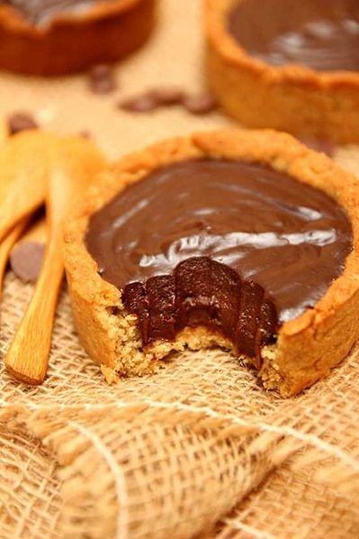 Tartelettes au chocolat vegan à IG bas