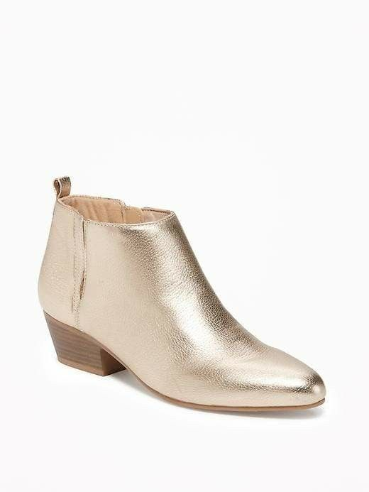 Metallic gold ankle boots Oldnavy