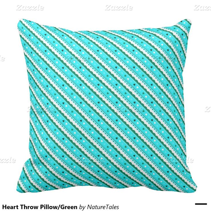 Heart Throw Pillow/Green Throw Pillow Heart, Valentine day gifts and Green pillows
