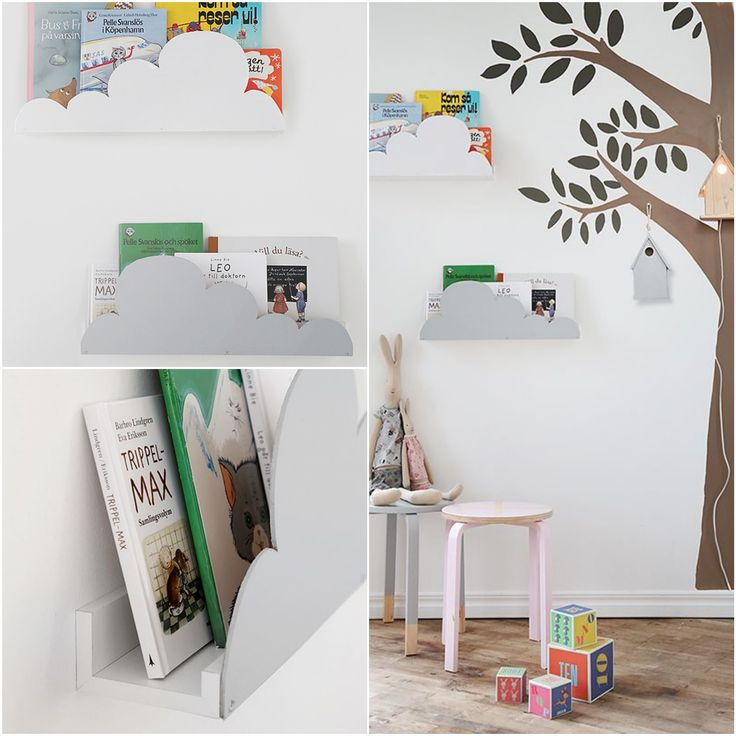 mommo design: 8 LITTLE IKEA HACKS - Ikea Ribba shelf hacked into a cloud