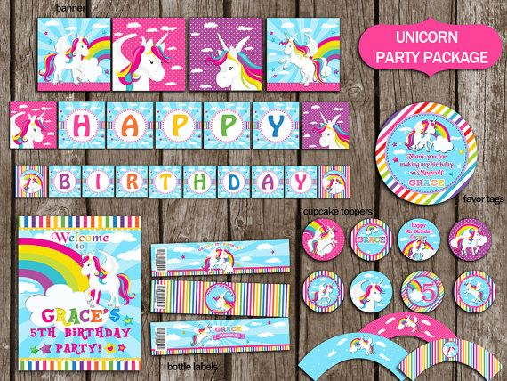 Hey, I found this really awesome Etsy listing at https://www.etsy.com/listing/268376511/unicorn-party-package-instant-download