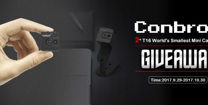 Have you seen this Conbrov T16 miniature spy camera? Get a chance to win the world's smallest portable pocket body camera - Conbrov T16 - by joining this international giveaway!   #camera #CameraGiveaway  #photography #worldwidegiveaway #giveaway #giveawaycontest #gadgets #gizmos #free