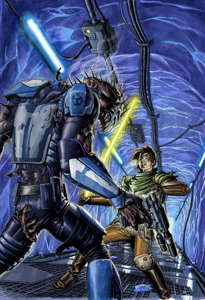 STAR WARS covers – by Dustin Weaver Star Wars: Legacy #29 (2008)Star Wars: Knights of the Old Republic #26 (2007)Star Wars: Knights of the Old Republic #27 (2007)  Star Wars: Knights of the Old Republic #28 (2007)Star Wars: Knights of the Old Republic #29 (2008)Star Wars: Knights of the Old Republic #30 (2008)Star Wars: Dark Time #16 (layout by Doug Wheatley) (2009)