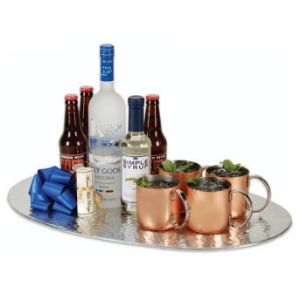 FROM RUSSIA WITH LOVE - Moscow Mule Kit Everything you need to make a brilliant Moscow Mule, including the recipe. A beautiful hammered and polished aluminum tray holds a bottle of Grey Goose, simple syrup, Cock 'n' Bull ginger beer, and original Moscow Mule copper mugs.
