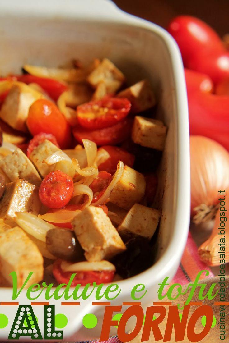 Verdure e tofu al forno Vegetables and baked tofu