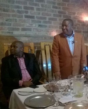 Julius Malema addresses farmers and other business people in Paarl. (Lauren Hess, News24)