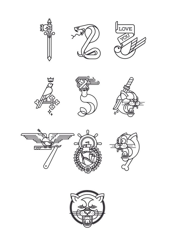 Tatuajes del 0 al 9