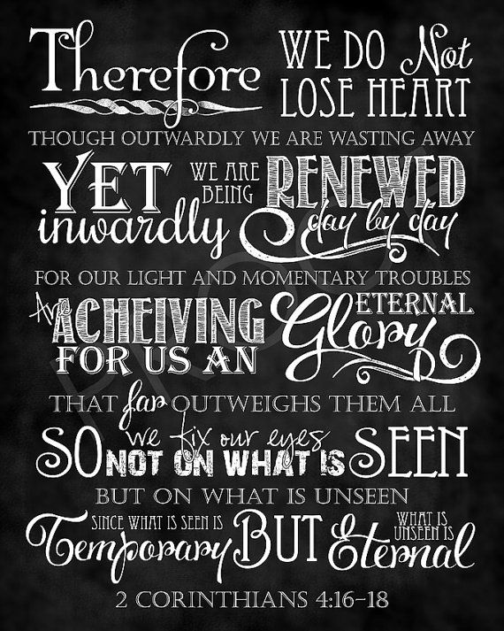 Scripture Art  2 Corinthians 41618 by ToSuchAsTheseDesigns on Etsy