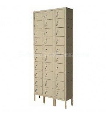 30 Compartment Cell Phone Lockers for sale! Compact yet efficient storage for your patrons' personal items. These are perfect for secured access areas including military bases, police stations, correctional facilities/jails, courthouses as well as sports stadiums, rec centers and gyms. #lockers #cellphonelockers #minilockers #boxlockers
