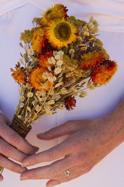 Dried flower bouquet = lovely