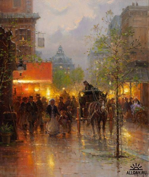 15 best images about art gerald harvey jones paintings on for Harvey s paint and body