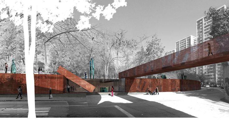 ELEMENTAL, finalista en concurso Nuevo Parque Museo Humano San Borja / Santiago