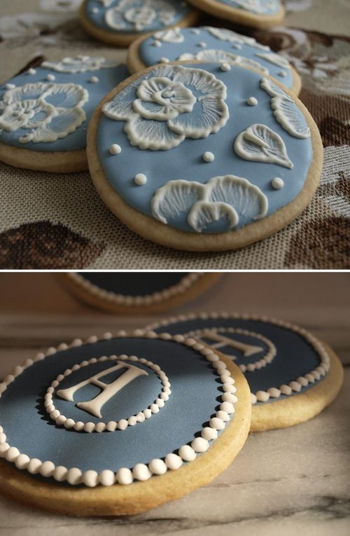 The monogrammed cookies would be fun.