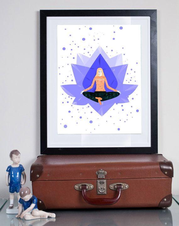 meditation ...Illustration art giclée print byTomek Wawer, #reminiscence #tomasz wawer #poster