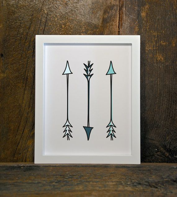ARROWS blue tribal woodland nursery instant by MountainViewPrints