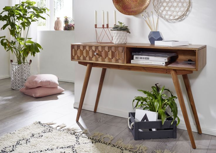 Konsolentisch aus Akazienholz - Möbel - Serie • MOSAYK