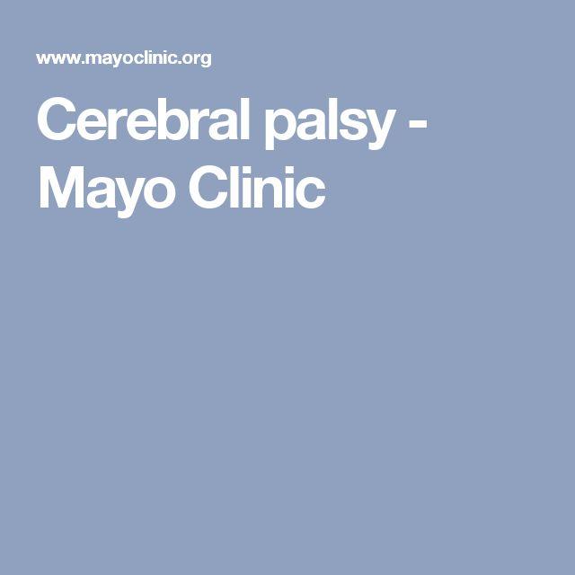 Cerebral palsy - Mayo Clinic
