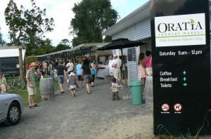 Oratia Farmers Market. Open every Saturday - rain or shine.  Fresh and local fruit, specialty breads, artisan cheese, free range eggs, smoked fish, olive oil, fresh flowers, meat, organic honey, fudge and much more...