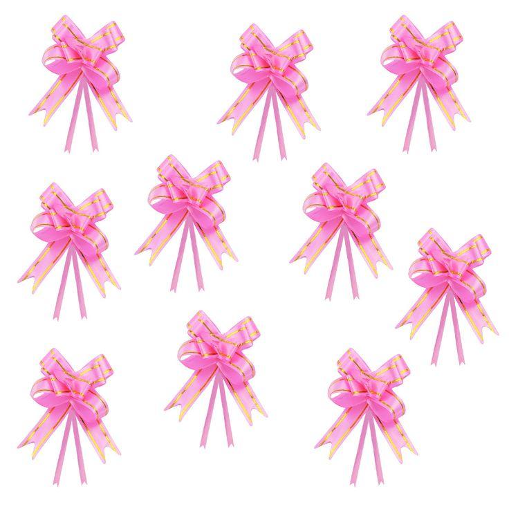 10 geschenkschleifen mit geschenkb ndern deko schleifen rosa basteln bastel zubeh r diy. Black Bedroom Furniture Sets. Home Design Ideas