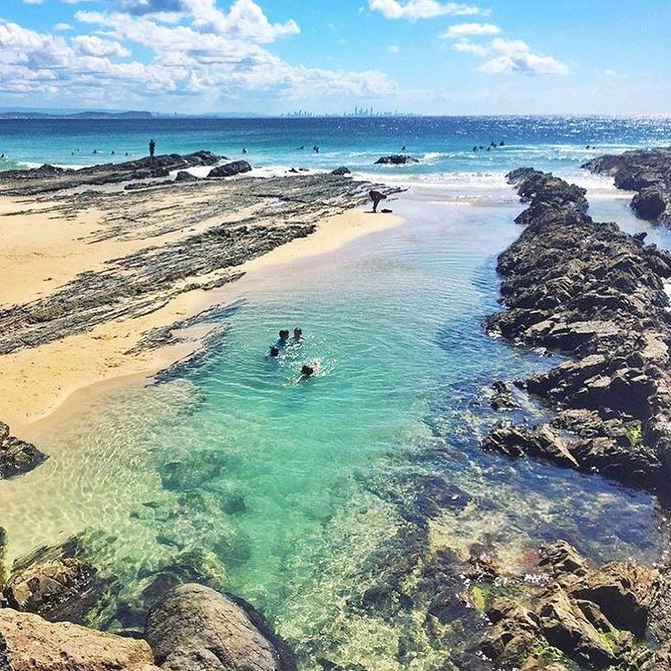 Take a dip in the tidal pools at Snapper Rocks