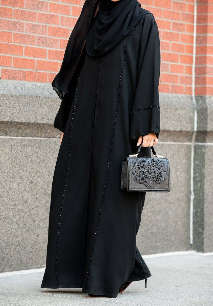 364056af145909 Sanijah Abaya in Classic Black in 2019