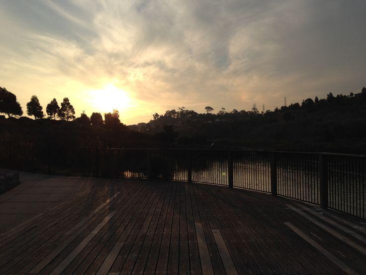 Sun sets, Cardinia lakes