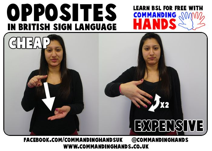 Cheap and Expensive in British Sign Language | Commanding Hands | Flickr