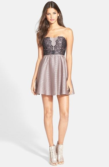 ASTR Bandeau Fit & Flare Dress available at #Nordstrom