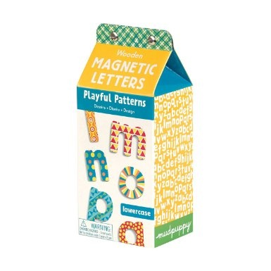 Amazon.com: Playful Patterns Lowercase Letters Wooden Magnetic Set: Toys & Games