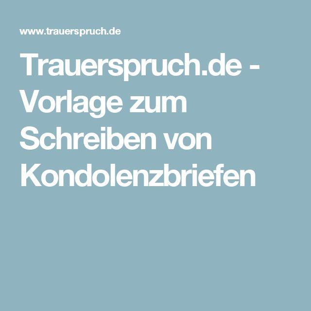 Trauerspruch.de - Vorlage zum Schreiben von Kondolenzbriefen