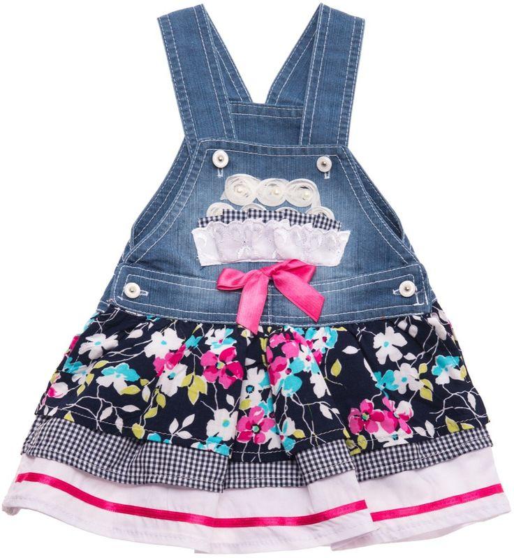 ΑΖ παιδικό φόρεμα σαλοπέτα τζιν «Daisies» Κωδικός: 18199  €14,90 (-32%)