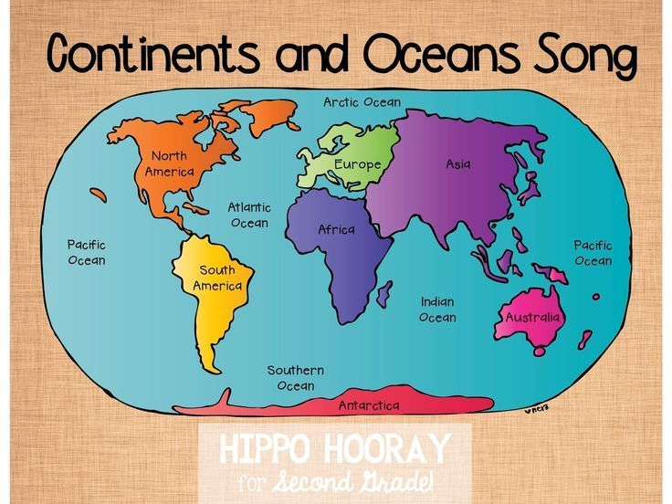 Best Continents And Oceans Ideas On Pinterest Continents - World map continents and oceans