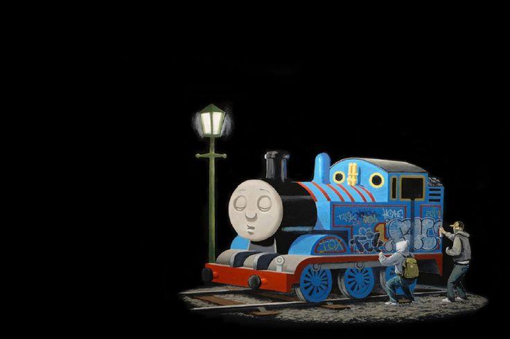 Cheap Envío gratis Banksy máquina de vapor, Thomas, tren de graffiti 24x36in carteles impresos seda pintura decorativa de la pared del arte etiqueta de la pared, Compro Calidad Pintura y Caligrafía directamente de los surtidores de China: los materiales y el TamañoTamaño del cartel:12x18 inch, 16x24 pulgadas y 24x36 pulgadas(aprox.)impreso enTela de seda