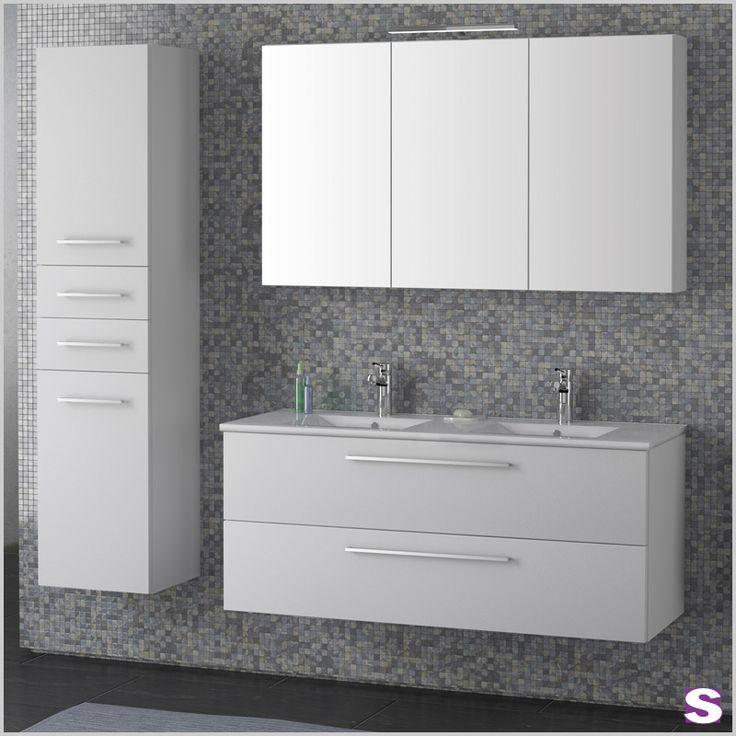 Simple Alles tritt im Doppelpack auf das Waschtischelement der Spiegelschrank und sogar der H ngeschrank besitzt zwei T ren und