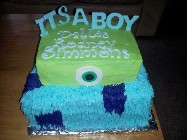 CAKES AND MORE: Baby Shower Monsters Inc.