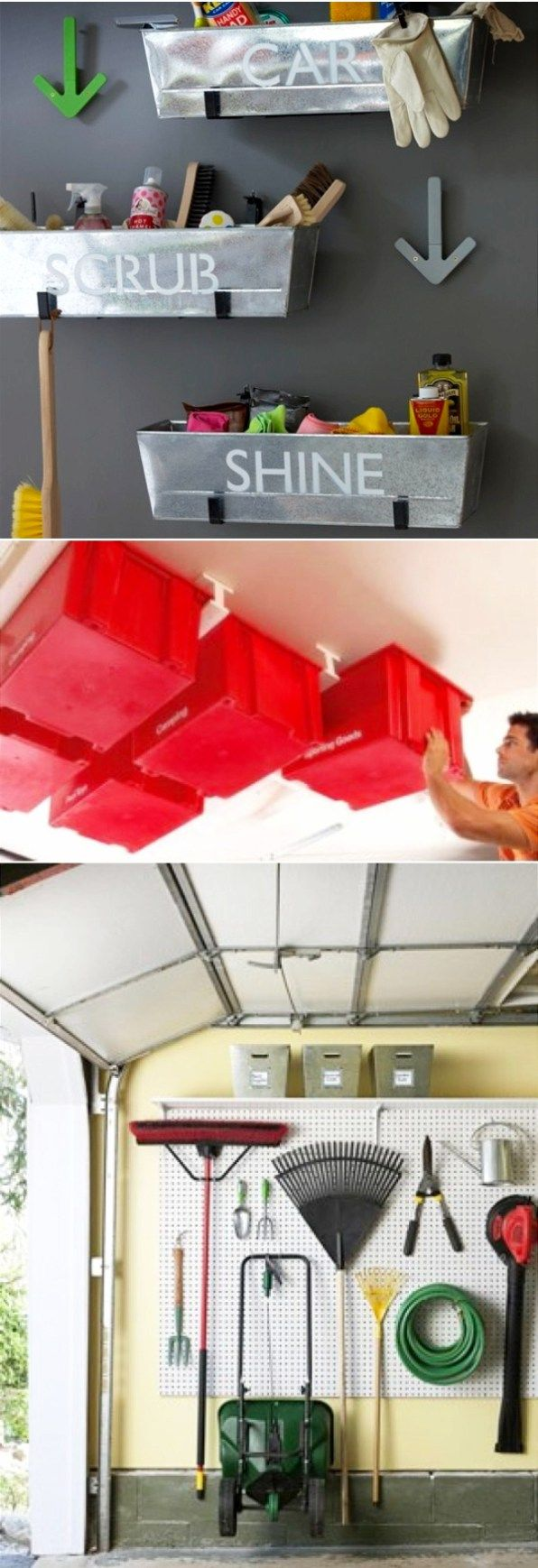 Garage Organization and Storage Ideas - Organize your garage clutter with these 5 quick and cheap garage organizing ideas - DIY Garage organization ideas, tips, storage ideas for the ultimate garage