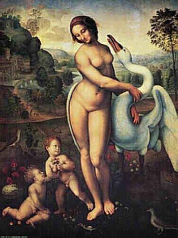 Leonard de Vinci (copie), Léda et le cygne