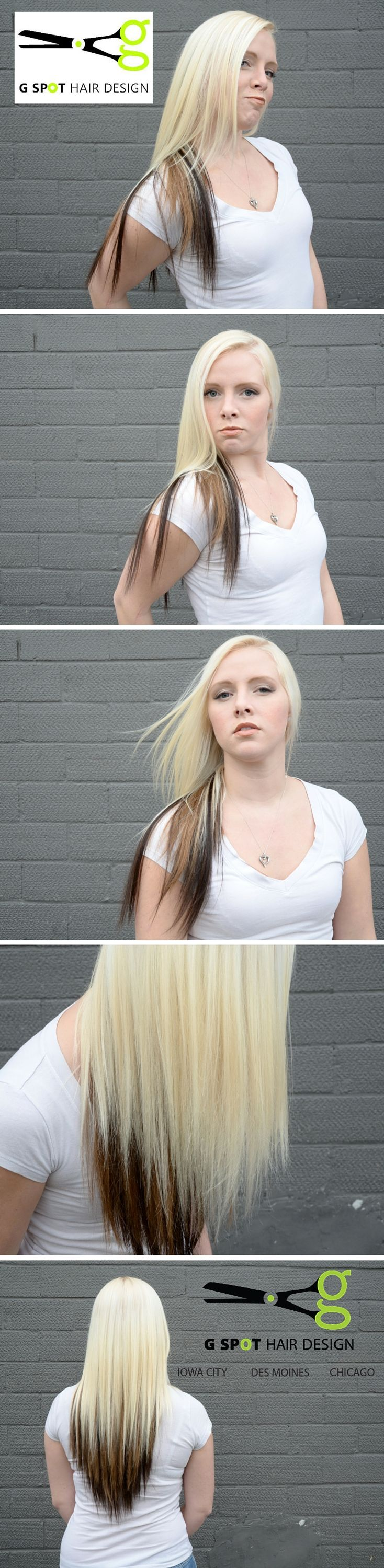 34 best extensions by g spot hair design images on pinterest kayla with cut color and our all natural sewn in hair extensions ours is pmusecretfo Choice Image