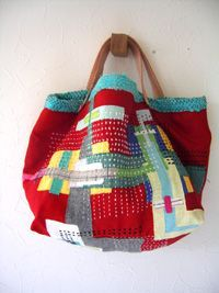 beautiful sashiko bag