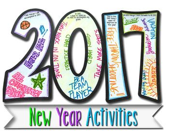 New Year Resolution Goals Activities 2017 Edition
