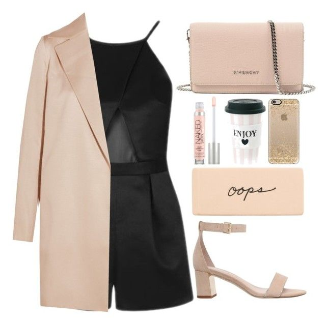 """""""Sem título #921"""" by andreiasilva07 ❤ liked on Polyvore featuring Carvela, Givenchy, Topshop, The Row, Urban Decay and Casetify"""