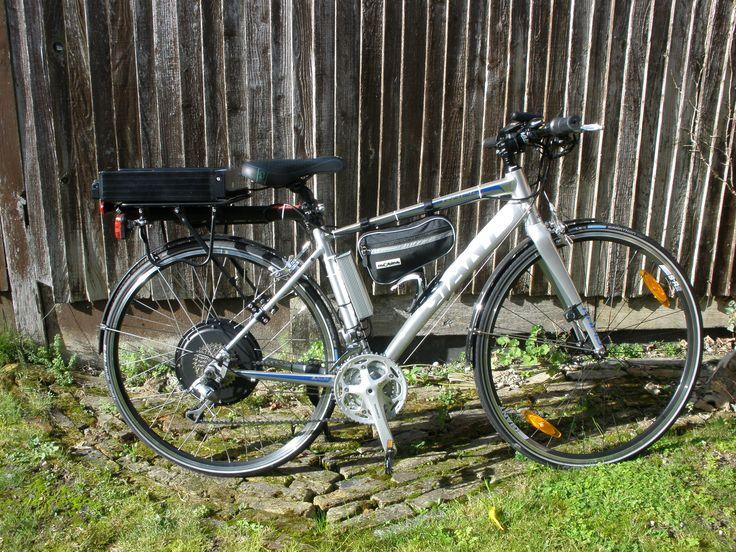 Giant Rapid 2 eBike Conversion | Electric Bike Builder. Dillenger 1000W rear wheel kit 10Ah battery.