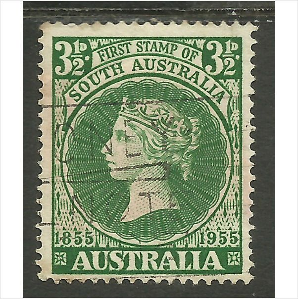 Stamps Australia 1955 Centenary of South Australian Postage Stamps. Queen Victor