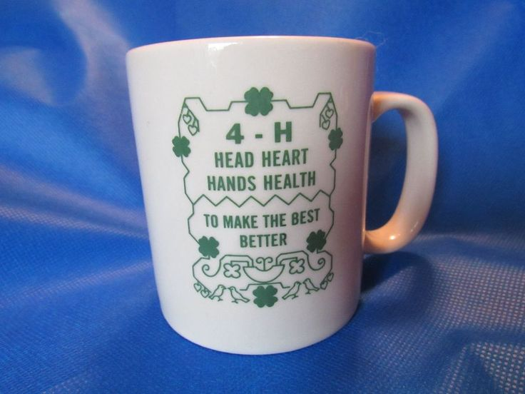 4H Club Head Heart Hands Health Coffee Cup Mug with Pledge No Other like it Here