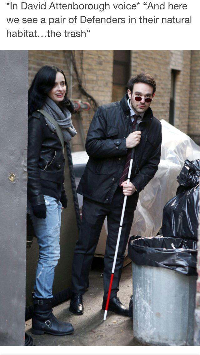 Matt and Jessica (I can't stop laughing at how true this is - they both ended up in the trash at some point)