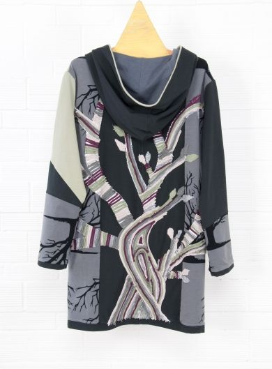 Cardigan/coat 'Tree' -  'One & Only' piece from recycling Collection #recycling #ecofashion #unique