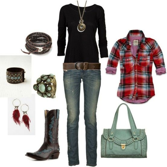 Country chic outfit by Sacagawea