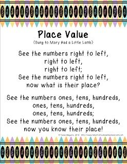 Place Value Song freebie
