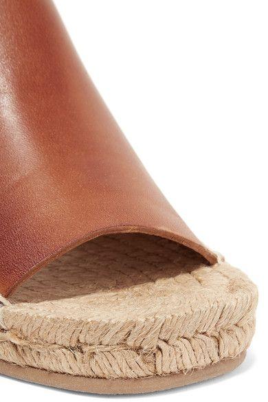 rag & bone - Calla Leather Espadrille Wedge Sandals - Tan - IT41