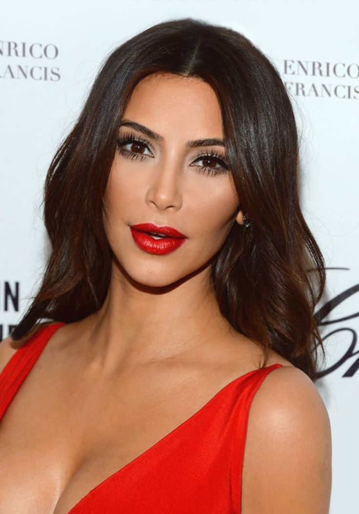 Week 4 kim k makeup love her red lips